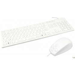 PACK WATERPROOF IP68 white : 1 x Keyboard waterproof + 1 x Mouse waterproof
