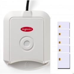 PACK: 1x Smartcard reader INGENICO LITEO + 5 Smartcard SLE5528